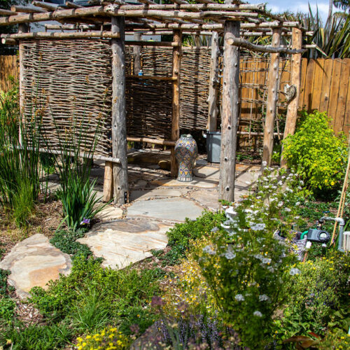 Custom outdoor shower, designed and built by TOLD